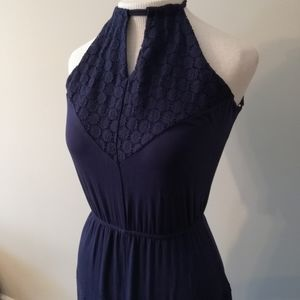 NWT Maxi Dress With Lace Detailing